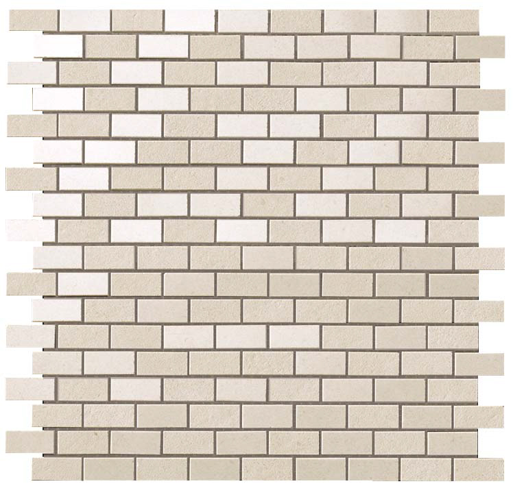 Atlas Kone White Brick Mosaic